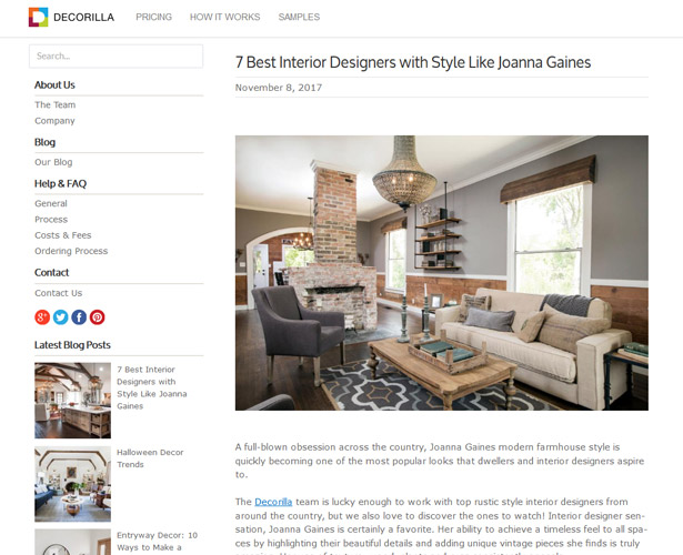 decorilla - Most Popular Interior Design Blogs