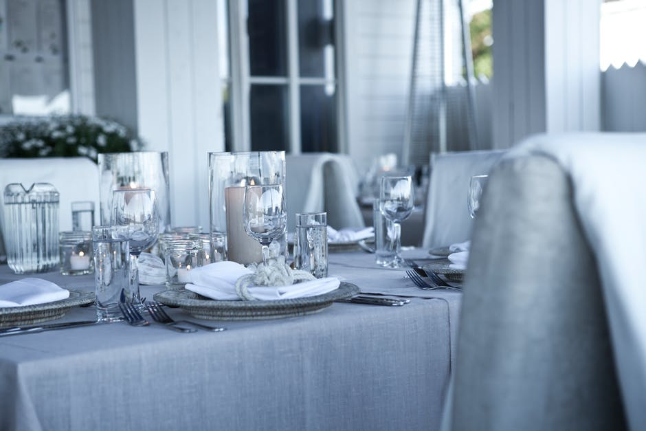 grey dining chairs dinner party