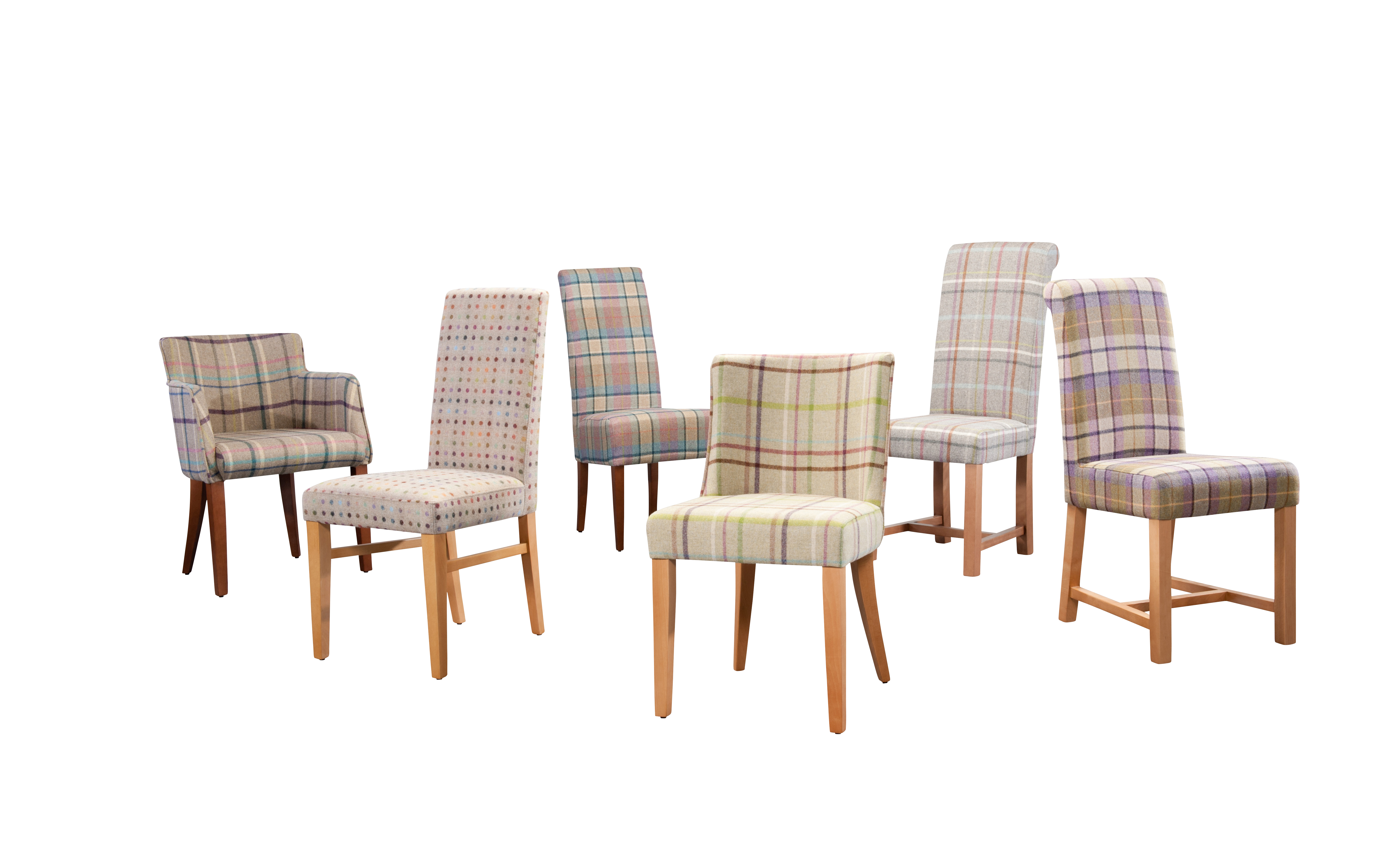array of coutry dining chairs